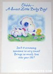 Baby Snoopy & Woodstock 'For a Baby Boy' Greeting Card