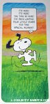 Snoopy dancing Leap Year Greeting Card