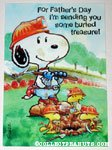 Snoopy & Woodstock Miners Father's Day Greeting Card