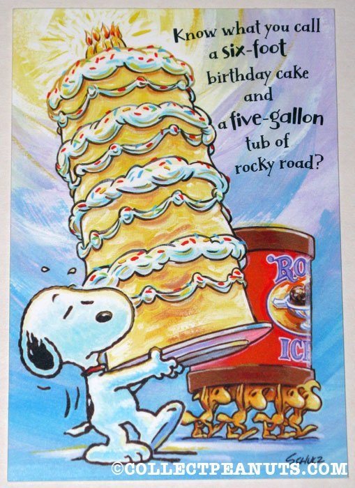 Peanuts Birthday Cards CollectPeanutscom