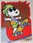 Snoopy on skateboard Greeting Card