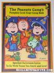 Peanuts Gang Pumpkin Carols Halloween Greeting Card