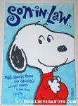 Snoopy 'Son in Law' Greeting Card