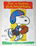Football Snoopy 'Grandson' Greeting Card