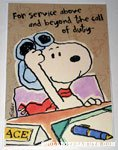 Snoopy Flying Ace Greeting Card