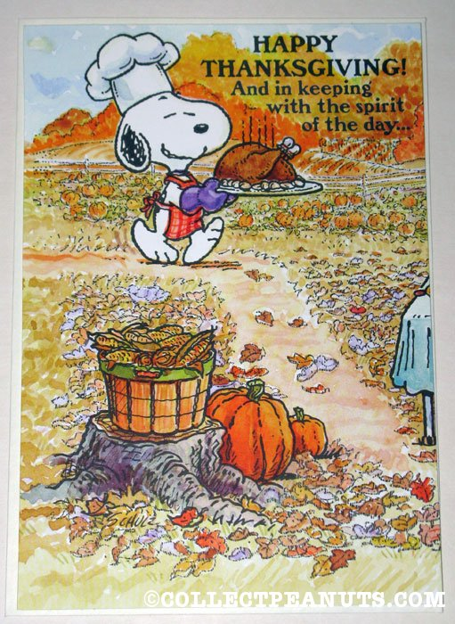 Peanuts Thanksgiving Cards | CollectPeanuts.com