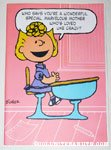 Sally in school Mother's Day Greeting Card
