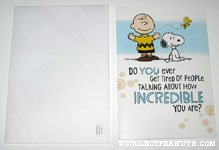 Charlie Brown & Snoopy '...how incredible you are?' Greeting Card