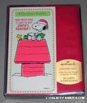 Snoopy and Woodstock on Doghouse Christmas Cards