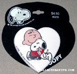 Charlie Brown hugging Snoopy Barrette