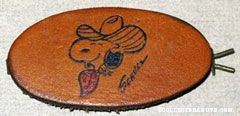 Snoopy Cowboy Leather Hair Clip