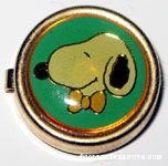 Snoopy wearing orange bowtie Portrait Button Cover