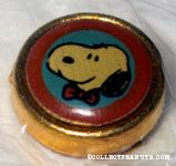 Snoopy wearing red bowtie Portrait Button Cover