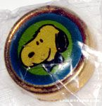 Snoopy wearing blue bowtie Portrait Button Cover