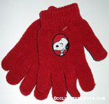 Snoopy portrait knit gloves