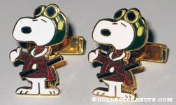 Peanuts & Snoopy Cuff Links