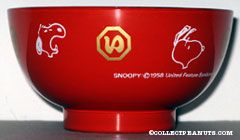 Snoopy portraits red Melamine Rice Bowl
