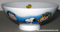Peanuts Gang eating Ceramic Rice Bowl