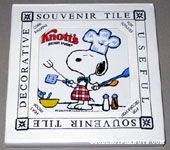 Snoopy Chef in kitchen Knott's Berry Farm Trivet