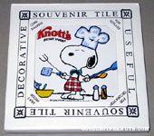 Snoopy Chef in kitchen Knott's Berry Farm Trivet