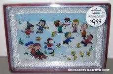 Peanuts gang outdoor winter activities Serving Platter