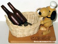 Chef Snoopy at Basket with Wine Bottle Bottle Openers