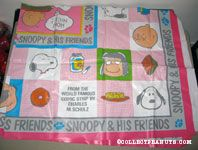 Peanuts Gang portraits checkerboard Tablecloth