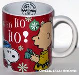 Charlie Brown giving Snoopy Christmas Gift  Mug