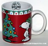 Snoopy standing by Christmas Tree Gift  Mug