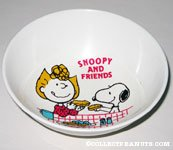 Snoopy and Sally sharing meal Bowl