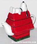 Snoopy on Doghouse Teapot