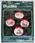 Four Round Peanuts Ornaments Cross-stitch Kit