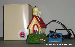 Snoopy on Doghouse with candle inside Lamp