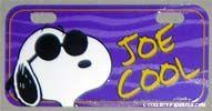 Joe Cool Bike License Plate