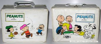 Lucy, Charlie Brown and Linus Playing Baseball Lunch Box