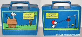 Snoopy and Woodstock on Doghouse with Typewriter Lunch Box