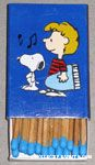 Snoopy with hand over heart and Schroeder with piano Matches
