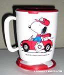 Snoopy in Car Mug