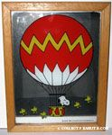 Snoopy in hot-air balloon with Woodstock flying Mirror