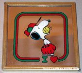 Snoopy with baseball in his mouth Mirror