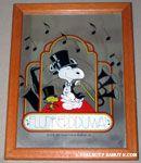 Snoopy & Woodstock dancing in top hat and tails 'Flunkerdiduwa' Mirror