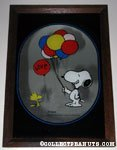 Snoopy & Woodstock holding Balloons 'Love' Mirror Picture