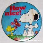 Woodstock giving Snoopy Flowers Mirror