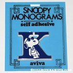 Snoopy with letter K Plastic Monogram