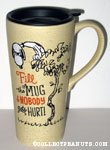 Vulture Snoopy 'Fill the mug...' Mug