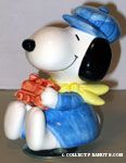 Snoopy dressed as a Train Engineer