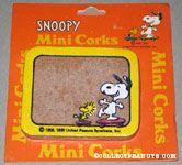 Snoopy & Woodstock skateboarding Mini Cork Board