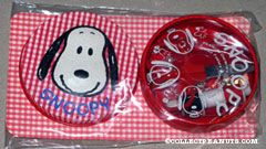Snoopy on red gingham background Sewing Kit