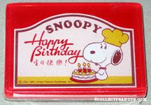 Snoopy with Cake Paperweight