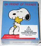 Snoopy & Woodstock hugging 'Oh Friend of Friends' Box of Thoughtful Sayings cards